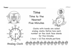 Free Third Grade Time PDF Worksheets Worksheet #5