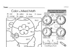 Free Third Grade Time PDF Worksheets Worksheet #25