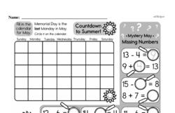 Free Third Grade Time PDF Worksheets Worksheet #7