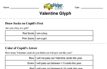 Valentine's Day Glyph Printable