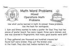 Word Problems Worksheets - Free Printable Math PDFs Worksheet #5