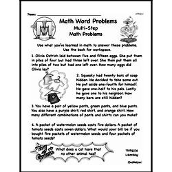 Free Third Grade Word Problems PDF Worksheets | edHelper.com