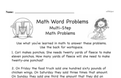 Word Problems Worksheets - Free Printable Math PDFs Worksheet #6