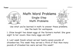 Word Problems Worksheets - Free Printable Math PDFs Worksheet #4