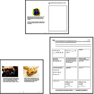 Back to School Reading Comprehension Workbook with Math Worksheets