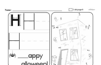 Third Grade Halloween Activity Workbook