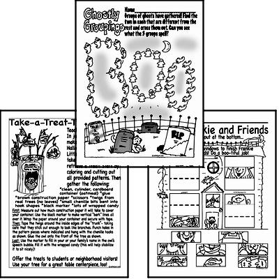 halloween puzzle worksheets book1