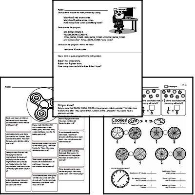 Winter Math Challenge Workbook (more math, little more difficult)