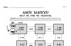 Fourth Grade Addition Worksheets - Addition with Decimal Numbers Worksheet #4