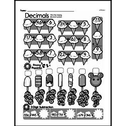 Fourth Grade Addition Worksheets - Addition with Decimal Numbers Worksheet #3