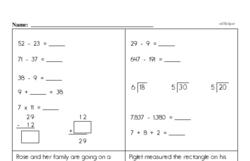 Fourth Grade Addition Worksheets - Multi-Digit Addition Worksheet #1
