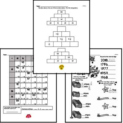 Addition - Three-Digit Addition Workbook (all teacher worksheets - large PDF)