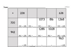 Fourth Grade Addition Worksheets - Three-Digit Addition Worksheet #1