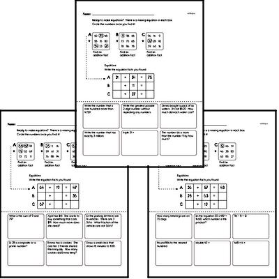 Addition Math Fact Challenge Puzzles
