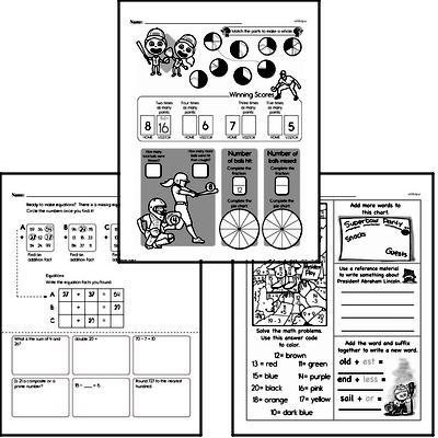 Addition Workbook (all teacher worksheets - large PDF)
