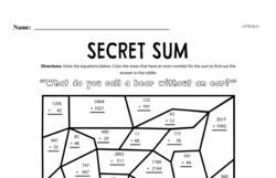 Addition Worksheets - Free Printable Math PDFs Worksheet #400