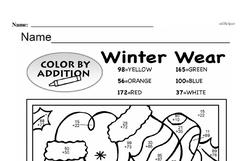 Fourth Grade Addition Worksheets Worksheet #42