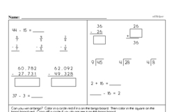 Addition Worksheets - Free Printable Math PDFs Worksheet #507