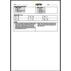 3rd Quarter Math Assessment for Fourth Grade - Few Mixed Review Math Problem Pages