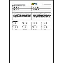 4th Quarter Math Assessment for Fourth Grade - Few Mixed Review Math Problem Pages