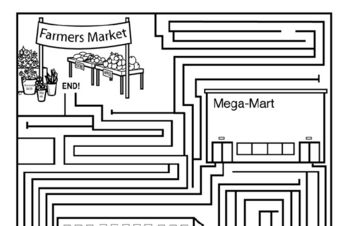Earth Day Mazes: Difficult