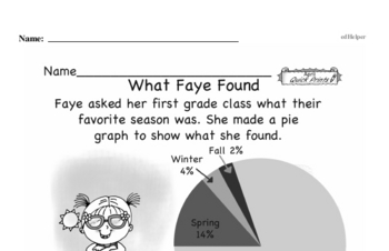 Data Mixed Math PDF Workbook for Fourth Graders