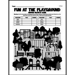 Fourth Grade Data Worksheets Worksheet #4