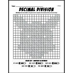 Fourth Grade Division Worksheets - Decimal Division Worksheet #2