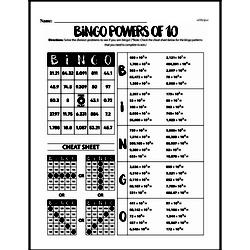 Division - Division and Powers of 10 Workbook (all teacher worksheets - large PDF)