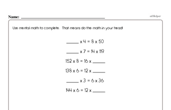 Division - Division with One-Digit Divisors Mixed Math PDF Workbook for Fourth Graders