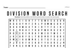 Fourth Grade Division Worksheets - Division with One-Digit Divisors Worksheet #4