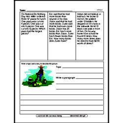 Fourth Grade Division Worksheets - Division with One-Digit Divisors Worksheet #1
