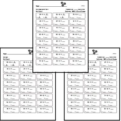 Division - Division with Remainders Workbook (all teacher worksheets - large PDF)