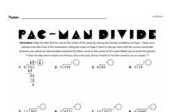 Fourth Grade Division Worksheets - Division with Remainders Worksheet #3