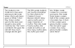 Fourth Grade Division Worksheets - Division with Remainders Worksheet #1