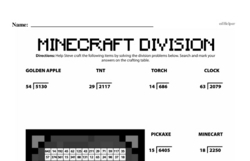 Fourth Grade Division Worksheets - Division with Two-Digit Divisors Worksheet #3
