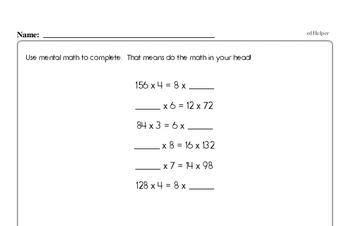 Fourth Grade Division Worksheets | edHelper.com
