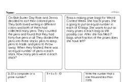 Division Worksheets - Free Printable Math PDFs Worksheet #4