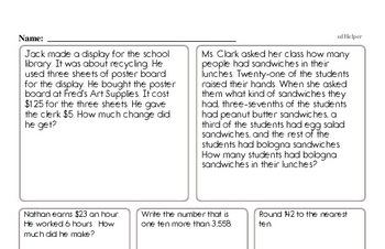 Enrichment Math Problems Book