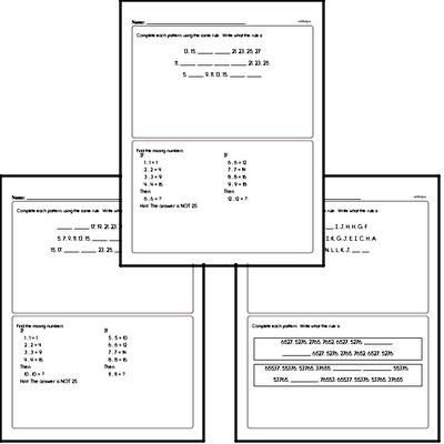 Pattern and Number Sequence Enrichment PDF Pages