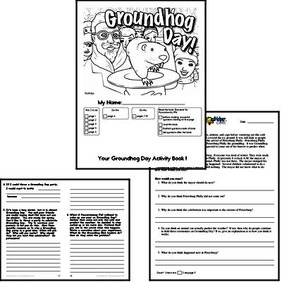 Fourth Grade Groundhog Day Worksheets Activity Book