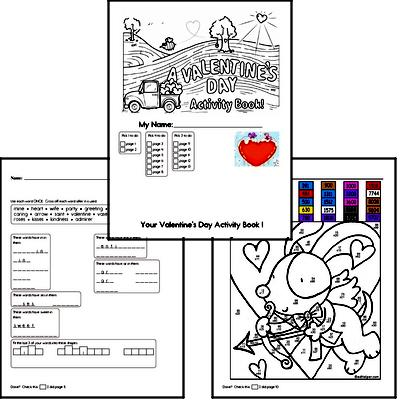 Fourth Grade Valentine's Day Worksheets Activity Book