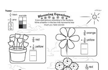 Fractions - Adding Fractions Workbook (all teacher worksheets - large PDF)