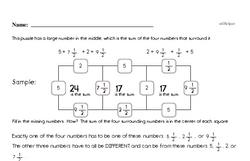 Fourth Grade Fractions Worksheets - Adding Fractions Worksheet #1