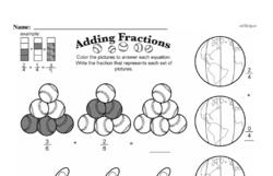 Fourth Grade Fractions Worksheets - Adding Fractions Worksheet #8