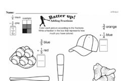 Fourth Grade Fractions Worksheets - Adding Fractions Worksheet #6