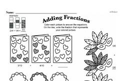 Fourth Grade Fractions Worksheets - Adding Fractions Worksheet #13