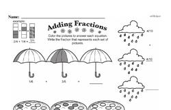Fourth Grade Fractions Worksheets - Adding Fractions Worksheet #10