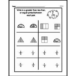 Fourth Grade Fractions Worksheets - Comparing Fractions Worksheet #4