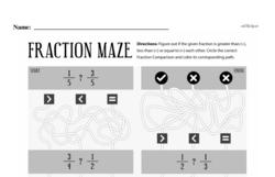 Fourth Grade Fractions Worksheets - Comparing Fractions Worksheet #10